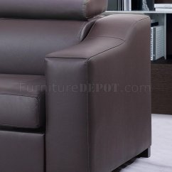 Deep Leather Sectional Sofa Sage Green Throws Chocolate Brown Italian Modern Sleeper