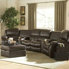 Home Theater Leather Sofa Chesterfield Fabric Bed Silver Linen Brown Bonded Recliner Sectional