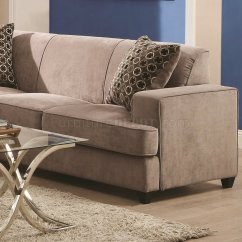 Coaster Tess Sectional Sofa Corner Storage Bed Silver Grey By 500727 In Beige Fabric W Sleeper