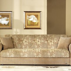 Living Room Sofa Fabric Ideas Office Design Contemporary Two Tone W Storage Sleeper