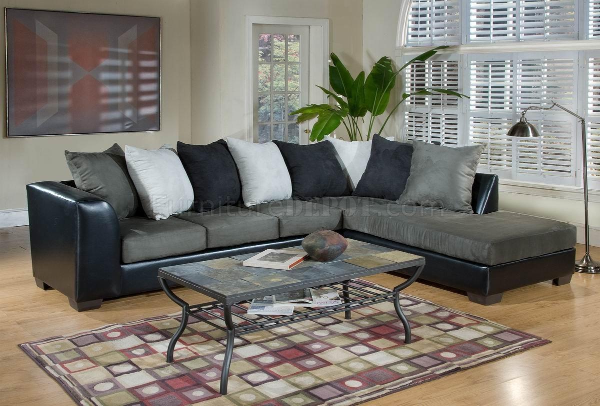 sage leather sofa jack knife bed frame fabric and black bicast modern sectional