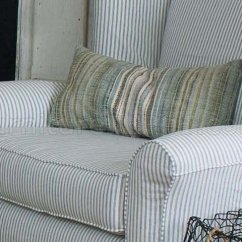 Fabrics For Chairs Striped Desk Chair Mesh Blue White Fabric Classic Sofa Oversize