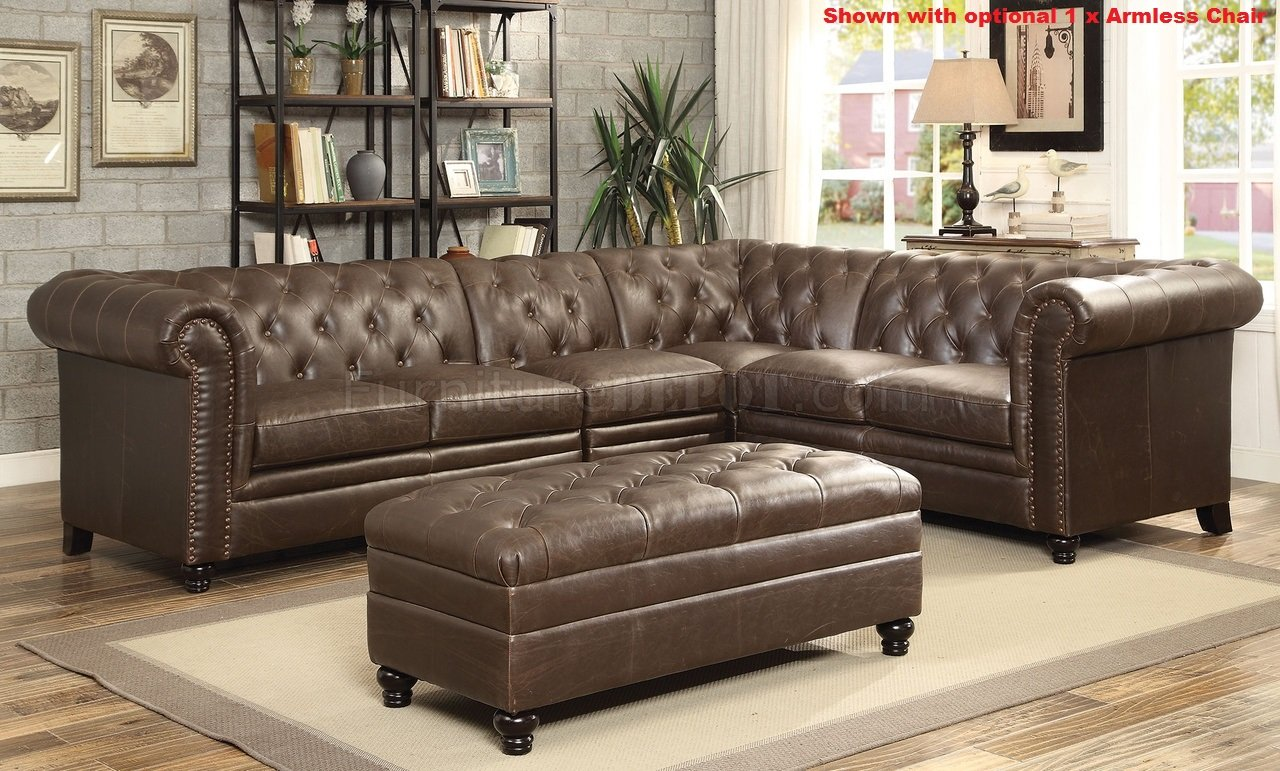 coaster leather sofa reviews hide a bed mattress roy sectional 500268 brown bonded match by