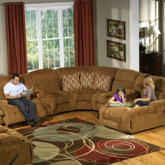 Home Depot Lounge Chairs Tripod Chair Camping Camel Fabric Enterprise 4pc Reclining Sectional Sofa W/options