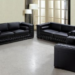 3 Piece Black Leather Living Room Set Office In Ideas Dublin Bt0697 Vig Top Grain Italian Classic 3pc