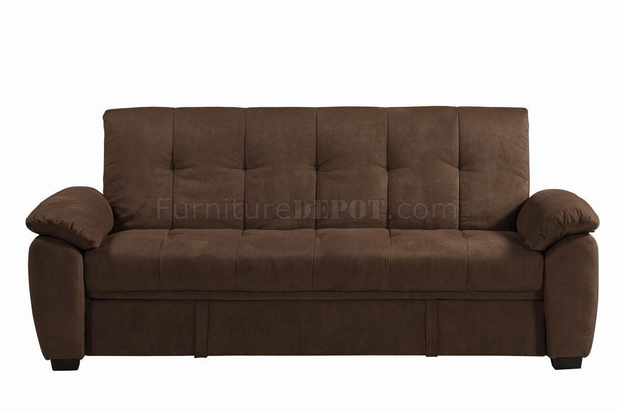 sofas with storage under madeline sofa robin bruce chocolate padded suede modern bed w