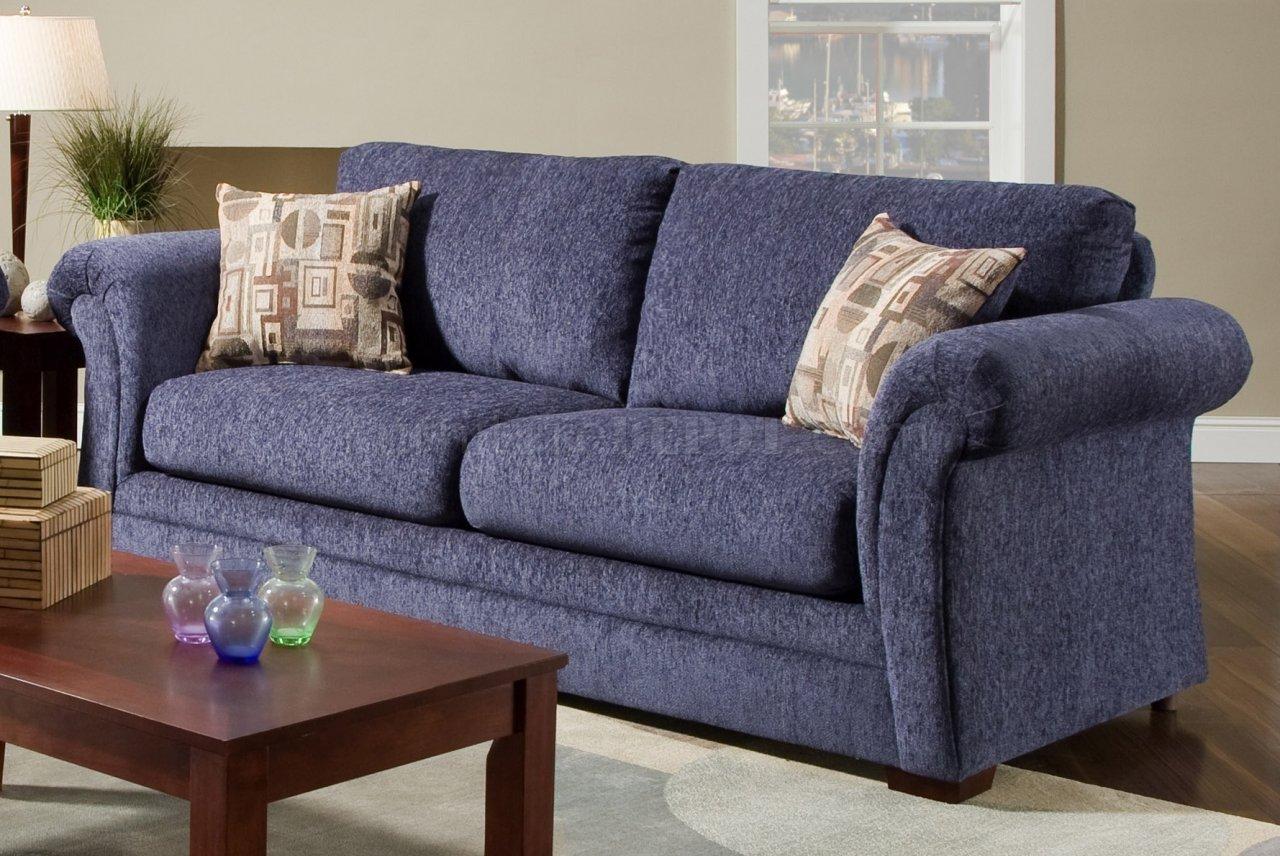 blue fabric recliner sofa wooden cushion design plush casual modern living room