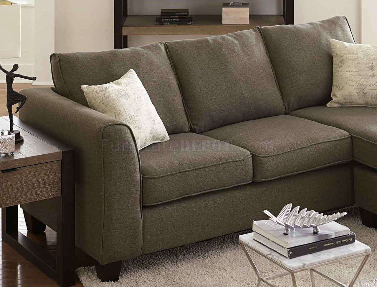 reversible sectional sofa chaise green cover 3009 in grey fabric w/accent pillows