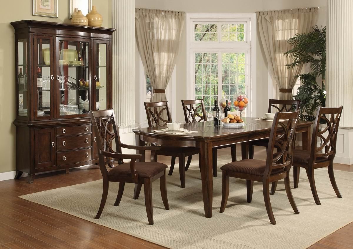 Espresso Finish Transitional 5Pc Dining Set wOptional Items