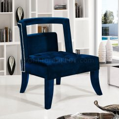 Navy Blue Accent Chairs Fisher Price Musical Chair Pink Tribeca 546 In Royal Velvet By Meridian
