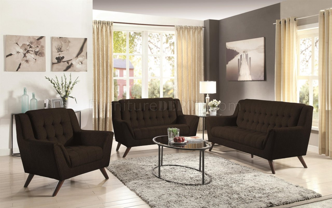 natalia leather and chenille sofa crate barrell sofas baby set in black 511034 by coaster w options