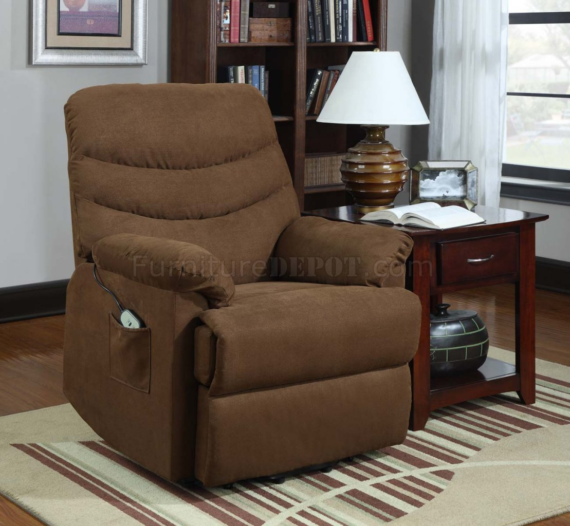 Elevated Power Lift Chair 9769BR in Microfiber by Homelegance