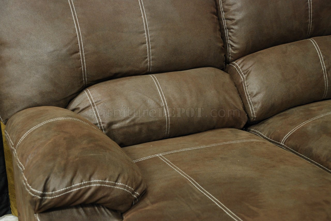 baseball leather sofa discount furniture sets rustic brown microfiber reclining sectional w