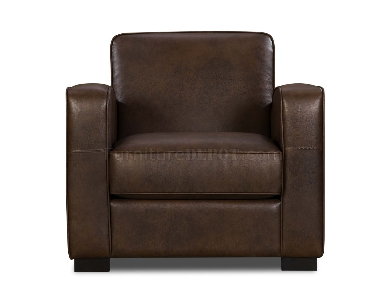 modern leather accent chairs floating pool with cup holders rich brown premium bonded chair