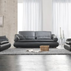 Living Room Furniture Leather And Upholstery Modern Artwork Black Upholstered Stylish Set
