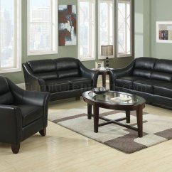 Brooklyn Bonded Leather Lounger Chair And Ottoman Step Stool Combo 504531 Sofa In Black By Coaster