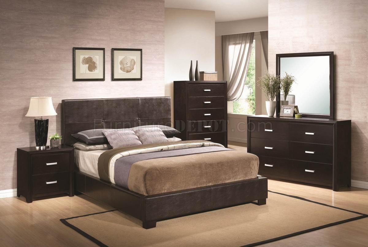 Andreas 202470 Bedroom in Dark Brown by Coaster wOptions
