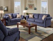 plush blue fabric casual modern