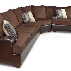 Leather Chair Ottoman Set Best Lift Brown Godiva Fabric Modern Sectional Sofa W/bonded Base