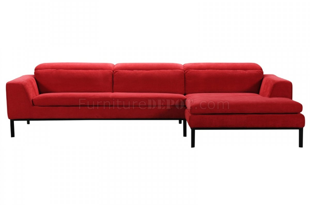 clayton sofa beds miami beach sectional 31240 in red fabric by vig