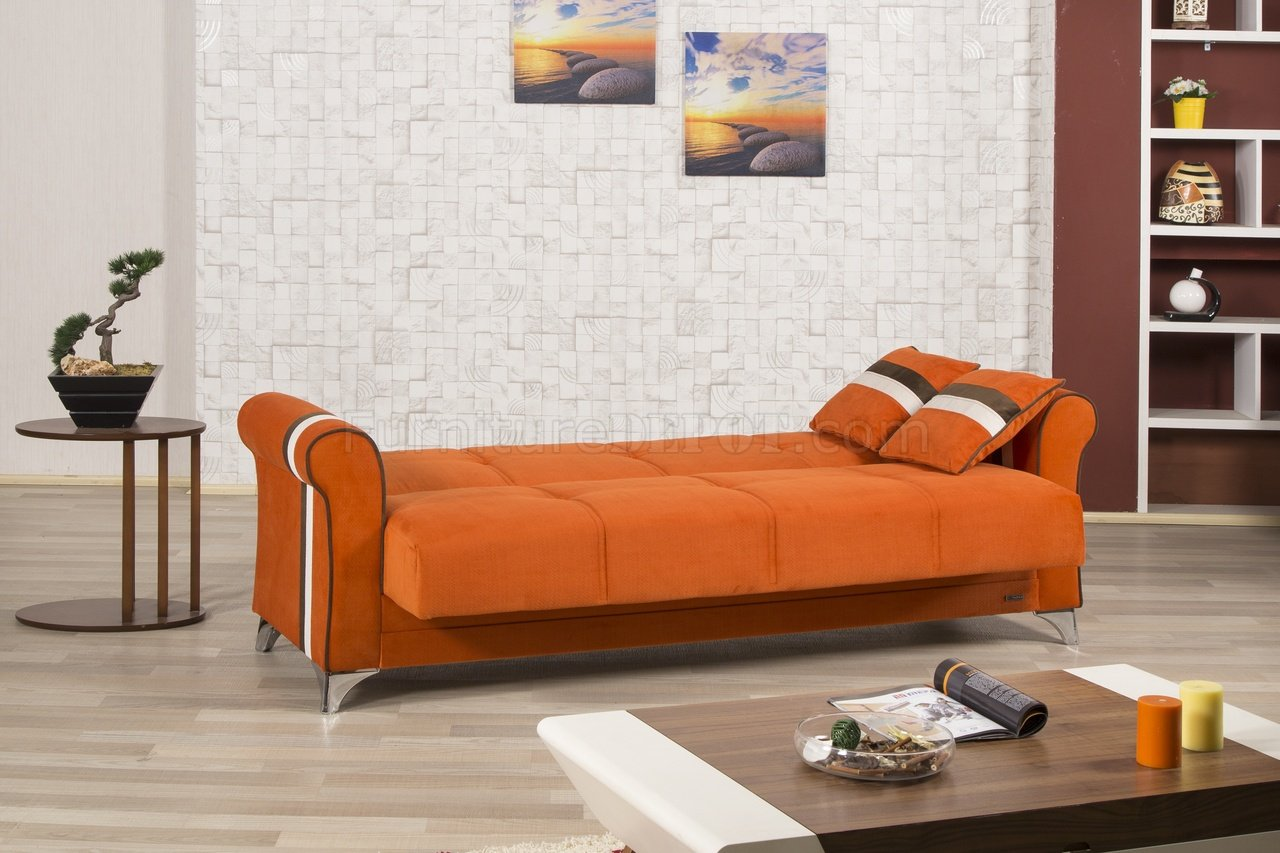 io metro sofa review bestway inflatable bed life in orange fabric by casamode