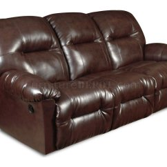 Double Sofa Recliner Dfs Farrow Corner Reviews Brown Bonded Leather Modern Reclining