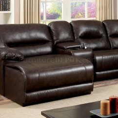 Leather Sofas Glasgow Area Vladimir Kagan Sofa Replica Motion Sectional Cm6822br In Brown Leatherette