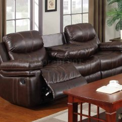 Espresso Bonded Leather Reclining Sofa Loveseat Set Chalk Painted Table 7272 In W Options