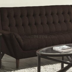 Natalia Leather And Chenille Sofa Futon With Storage Sectional 503778 In Black Fabric By Coaster