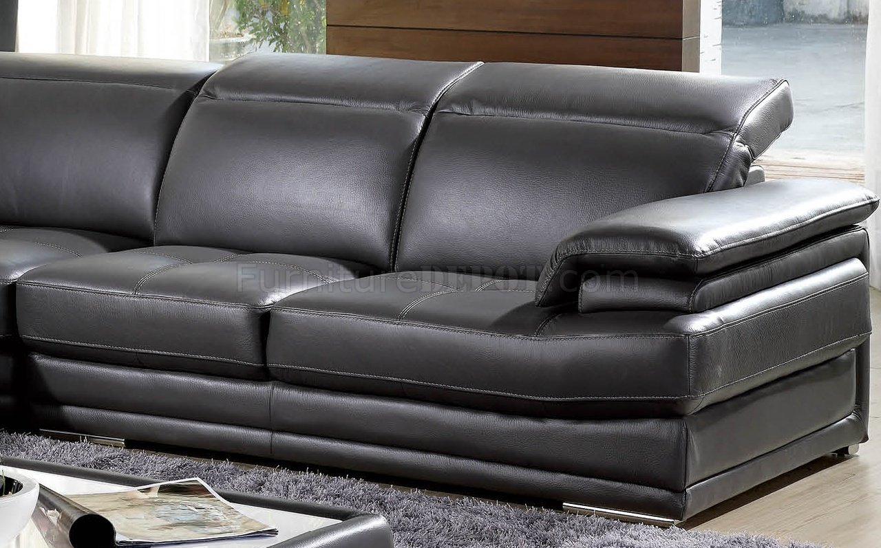 grey leather sofas and chairs sherrill furniture dark full genuine italian modern sectional sofa