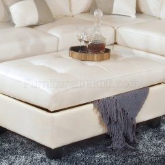 White Leather Sectional Sofa With Ottoman Mah Jong Modular Dimensions Bonded Modern W Storage