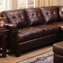 Coaster Samuel Bonded Leather Sofa Black Set Ebay Modern Sectional 500911 Brown