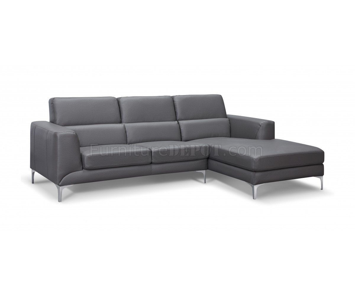 grey sofas leather best sofa sleeper for everyday use sydney sectional in gray faux by whiteline