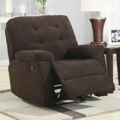 Modern Recliner Chair Rustic Farm Table And Chairs Brown Corduroy Fabric Rocker W