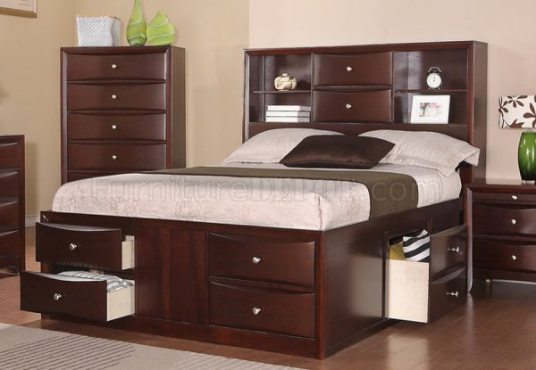 poundex bedroom furniture F9234 Bedroom in Espresso by Poundex w/Optional Casegoods