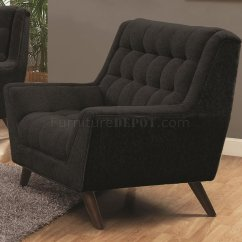 Natalia Leather And Chenille Sofa 3 Cushion Covers In Black Fabric 503774 By Coaster W Options