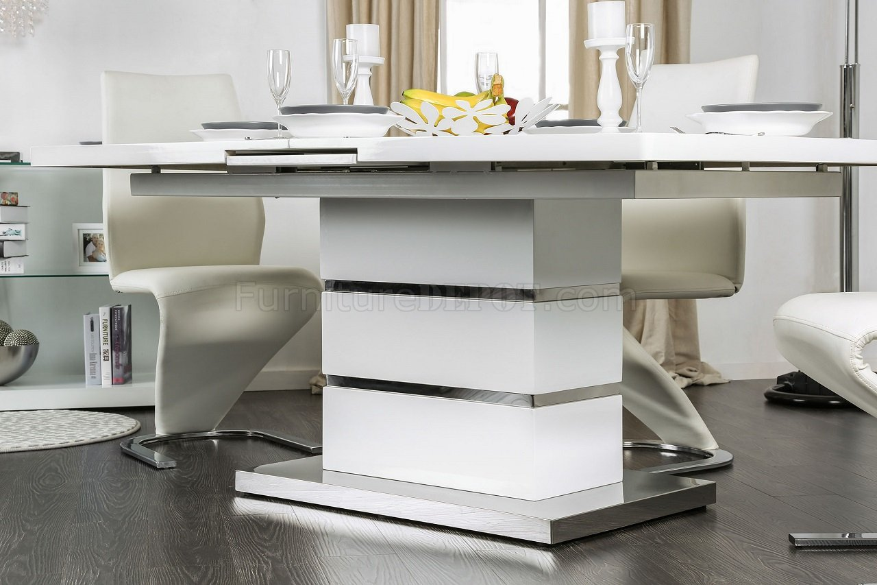 Midvale CM3650T Dining Table in White Finish wOptions