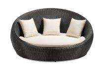 Black & White Modern Round Shape Outdoor Bed