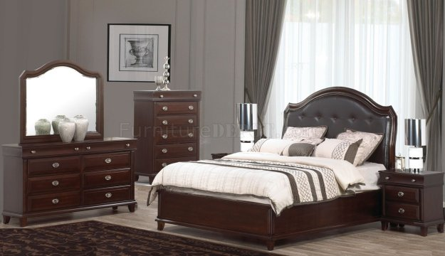 tango 5pc bedroom set w/tufted headboard & options
