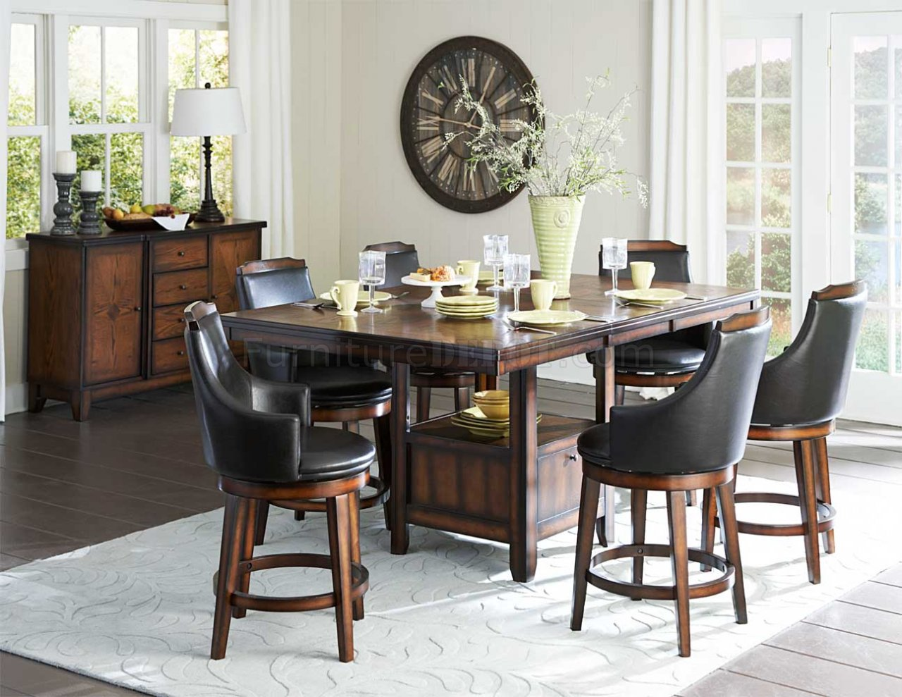 Bayshore 5447 36XL Counter Height Dining Table By Homelegance