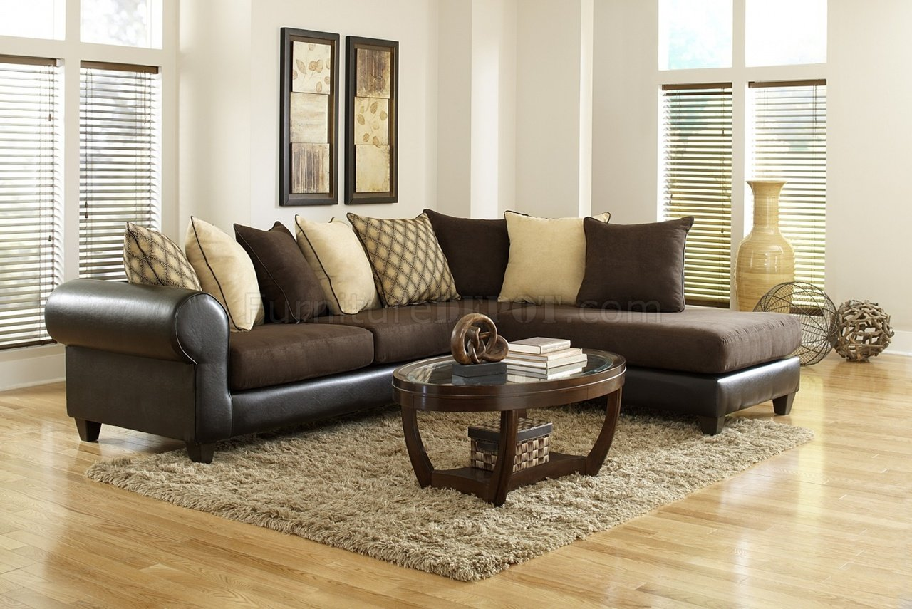 sectional sofas microfiber sofa unit 4510 in brown and bi cast