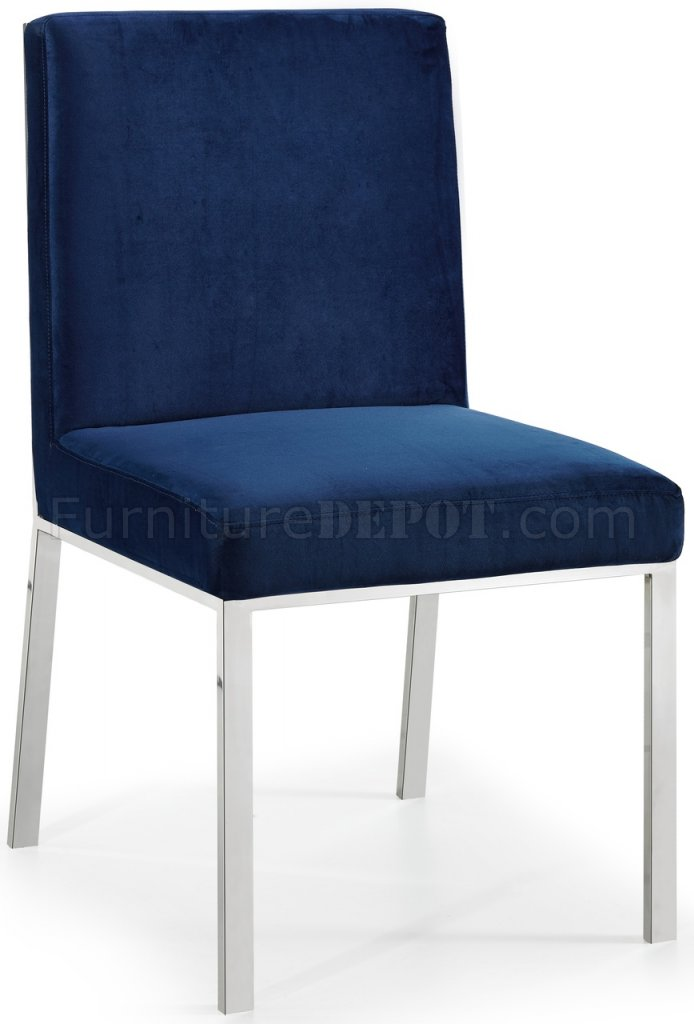 navy blue velvet club chair wedding covers exeter racecourse opal dining 736 set of 2 in fabric by meridian