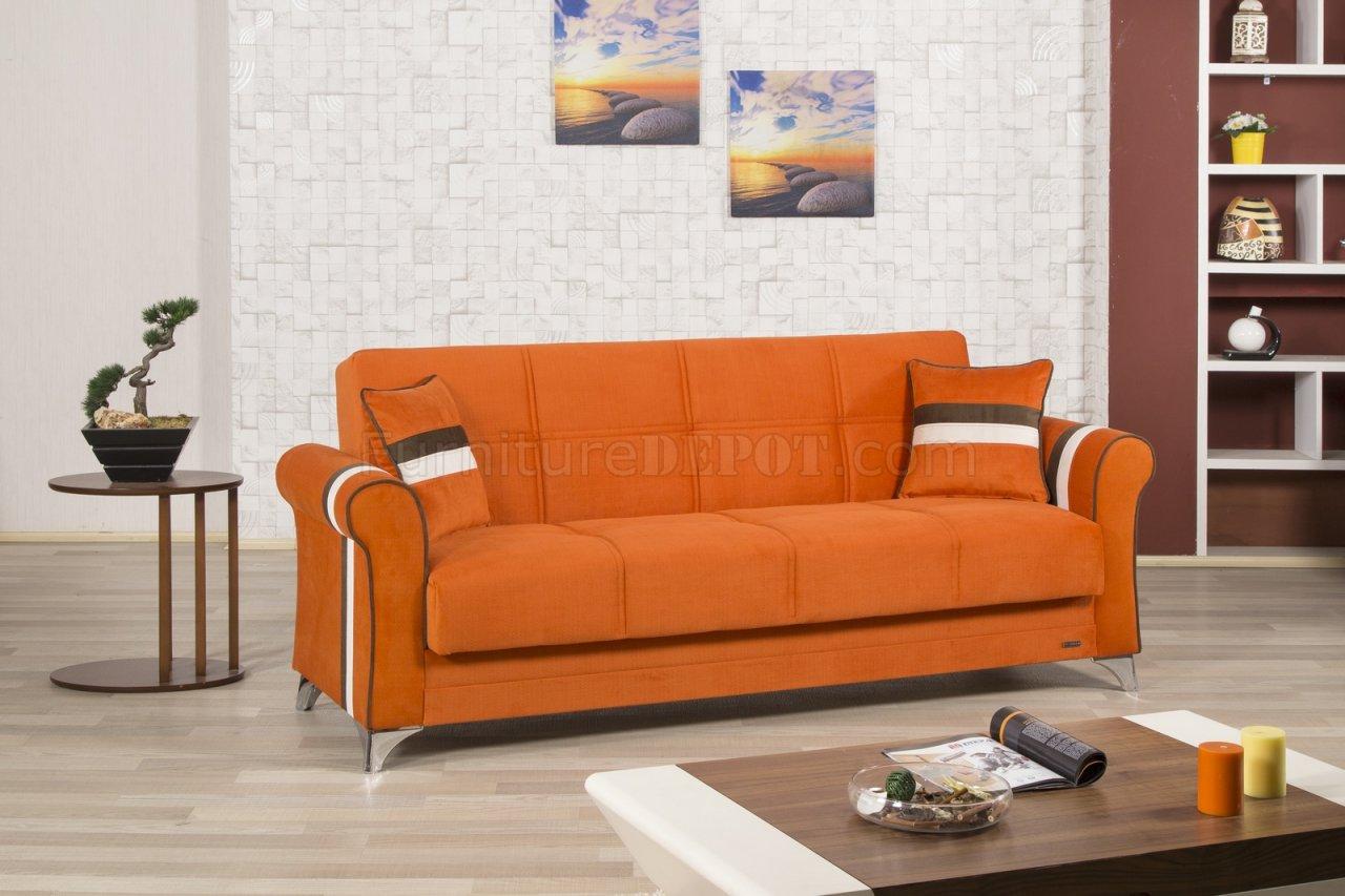 sofa bed color orange natuzzi leather sofas uk metro life in fabric by casamode