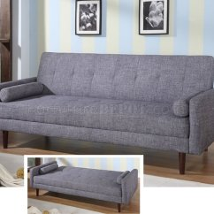Contemporary Grey Sofa Bed Table And End Tables Modern Fabric Convertible Kk18