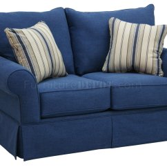 Blue Denim Sofa Bed Signature Design By Ashley Linebacker Black Reclining And Loveseat Home The Honoroak