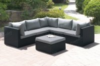 407 Outdoor Patio 6Pc Sectional Sofa Set by Poundex w/Options