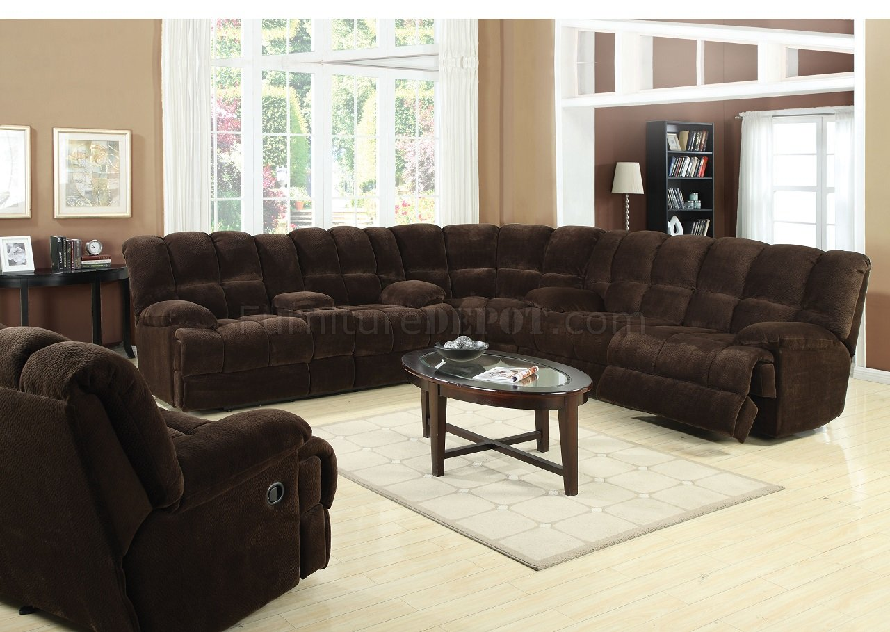 acme sectional sofa chocolate best 50475 ahearn motion in fabric by