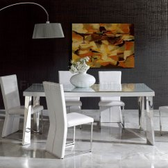 White 6 Chair Dining Table Cover For Wedding On Sale Coco 7 Piece Set With Chairs