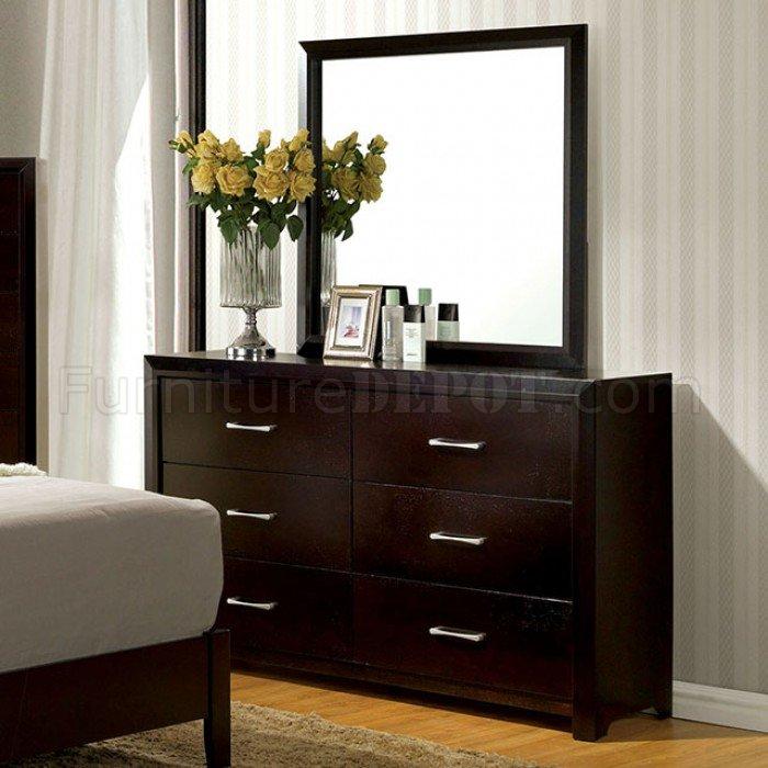 Janine CM7868 Bedroom in Espresso wOptions