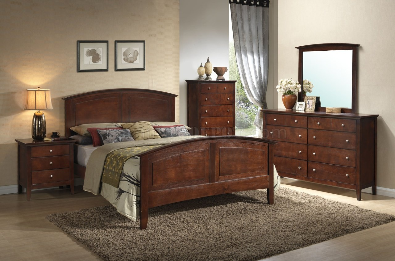 G5400 Bedroom in Dark Oak by Glory Furniture wOptions
